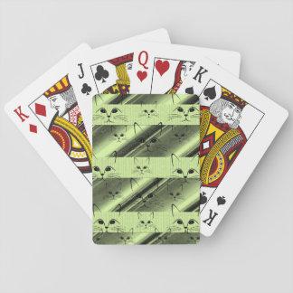 Baralho Plataforma de cartão do jogo do gato