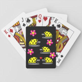 Baralho Plataforma de cartão do jogo do joaninha