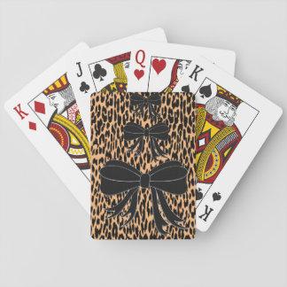 Baralho Plataforma de cartão do jogo do leopardo