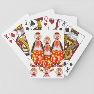 Baralho Plataforma de cartão do jogo do palhaço