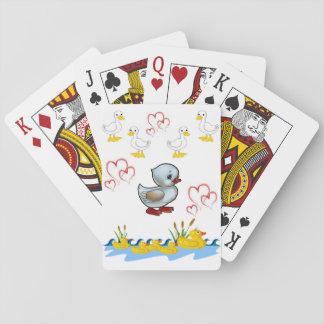 Baralho Plataforma de cartão do jogo do pato