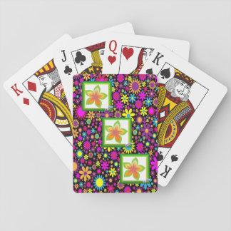 Baralho Plataforma de cartão floral do jogo