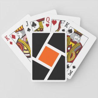 Baralho Plataforma de cartões alaranjada do jogo de