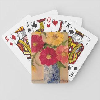 Baralho Plataforma floral de cartões de jogo