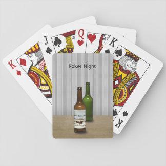 Baralho Póquer e cerveja