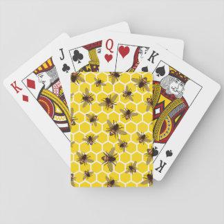 Baralho Por todo o lado em abelhas em cartões de jogo do