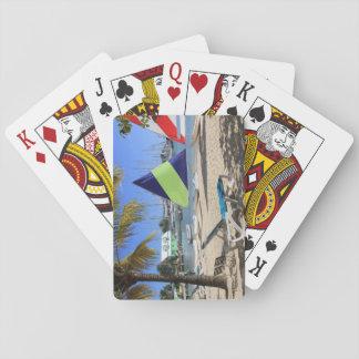 Baralho Praia padrão de Antígua dos cartões de jogo do