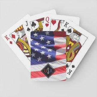 Baralho Presente da bandeira dos EUA para o monograma