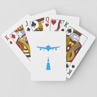 Baralho Presente engraçado piloto do vôo do aviador dos