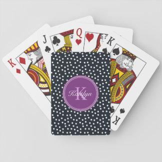 Baralho Preto, branco e cartões de jogo personalizados