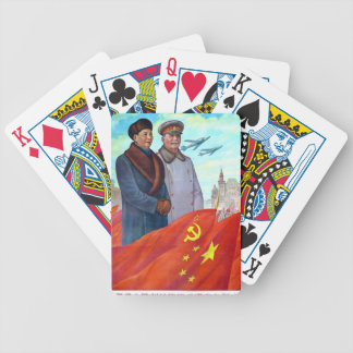 Baralho Propaganda original Mao Zedong e Josef Stalin
