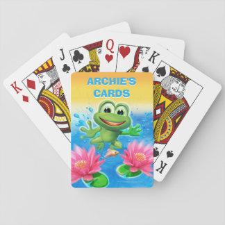 Baralho Pulando cartões de jogo da festa de aniversário do