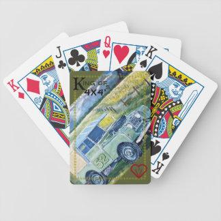 Baralho rei 52 de cartões de jogo do 🚴 da bicicleta 4x4's