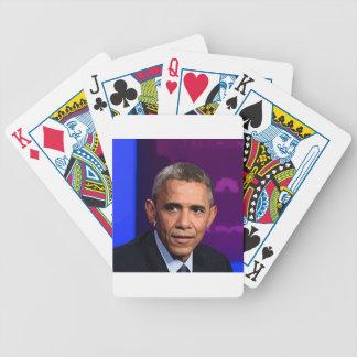 Baralho Retrato abstrato do presidente Barack Obama 9