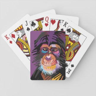Baralho Retrato colorido do macaco do pop art