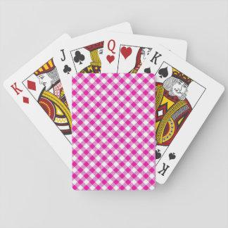 Baralho Rosa padrão dos cartões de jogo do índice -