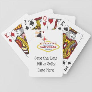 Baralho Salvar a data Las Vegas que Wedding cartões de