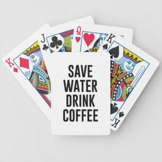 Baralho Salvar o café da bebida da água