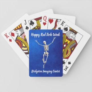 """Baralho """"Semana feliz de esqueleto feliz da tecnologia do"""