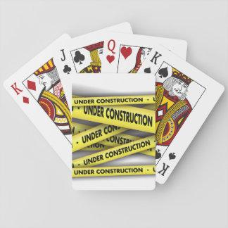 Baralho Sob cartões de jogo da construção