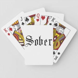 Baralho Sóbrio, gótico - cartões de jogo