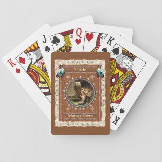 Baralho Tartaruga - cartões de jogo clássicos da terra de
