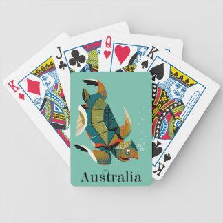 Baralho Tartaruga de mar australiana animador
