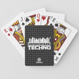 Baralho Techno subterrâneo - cartões de jogo