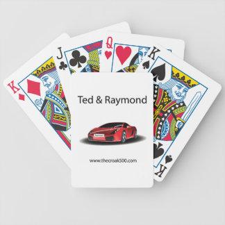 Baralho Ted e cartões de carros de Raymond