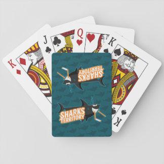 Baralho Território dos tubarões - cartões de jogo