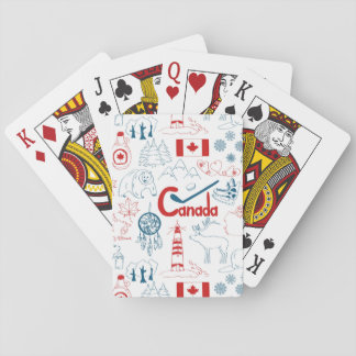 Baralho Teste padrão dos símbolos de Canadá |