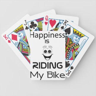 Baralhos De Poker A felicidade está montando minha bicicleta