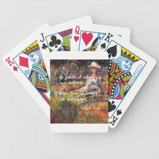 Baralhos De Poker A natureza no art. de Monet