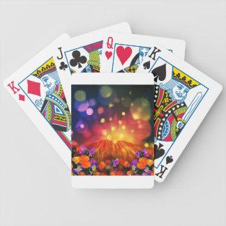Baralhos De Poker A noite é cheio da cor que aprecia a vida