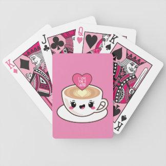 Baralhos De Poker Ame-o um Latte EMoji
