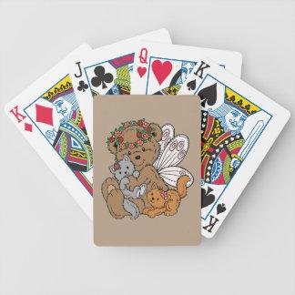 Baralhos De Poker Anjo do urso com gatinhos