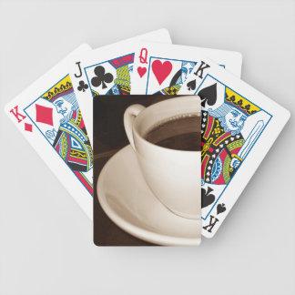 Baralhos De Poker Apenas a metade de cartões de jogo do café do copo