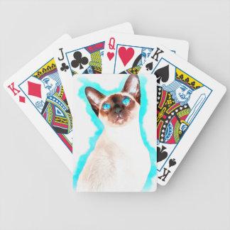 Baralhos De Poker Arte Siamese de CatWatercolor