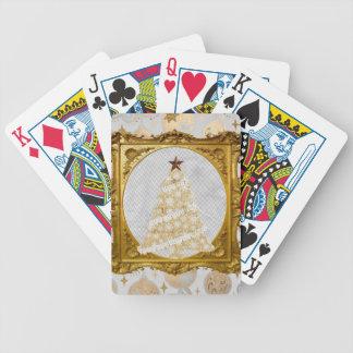 Baralhos De Poker Árvore bonita do laço e do floco de neve quadro no