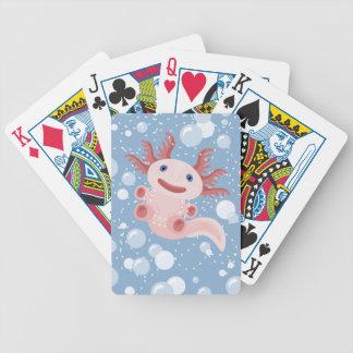 Baralhos De Poker Axolotl e o design corajoso do vetor das bolhas