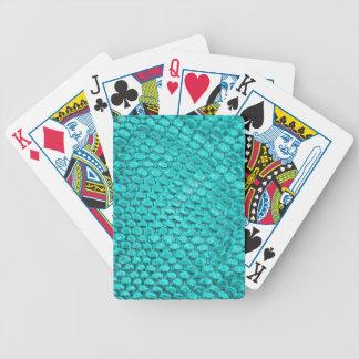 Baralhos De Poker Azul de turquesa do réptil