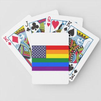 Baralhos De Poker Bandeira do orgulho do arco-íris dos E.U.
