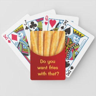 Baralhos De Poker Batatas fritas feitas sob encomenda engraçadas dos
