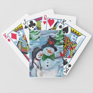 Baralhos De Poker Bonecos de neve de visita cardinais