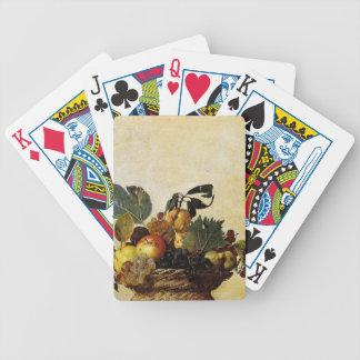 Baralhos De Poker Caravaggio - cesta da fruta - trabalhos de arte