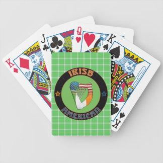 Baralhos De Poker Cartões de jogo americanos irlandeses da harpa