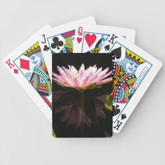 Baralhos De Poker Cartões de jogo cor-de-rosa de Lotus Waterlily da