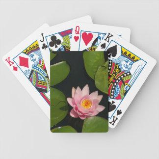 Baralhos De Poker Cartões de jogo cor-de-rosa de Waterlily Lotus
