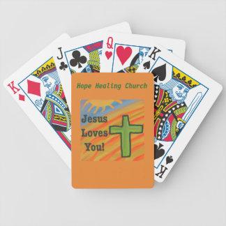 Baralhos De Poker Cartões de jogo cristãos de Jesus da igreja cura