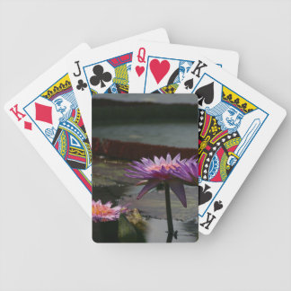 Baralhos De Poker Cartões de jogo roxos de Waterlilies Lotus